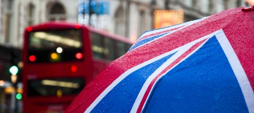 London, Shaftesbury Avenue, Umbrella in Theatreland